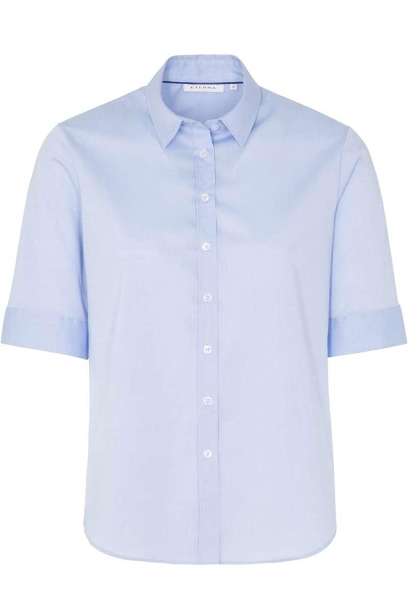 hochwertige eterna modern classic bluse in der farbe hellblau einfarbig die h bsche bluse ist. Black Bedroom Furniture Sets. Home Design Ideas