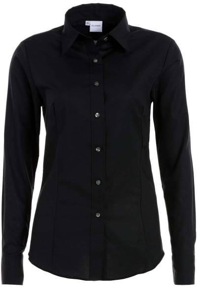 Olymp Bluse Tendenz - schwarz , Einfarbig