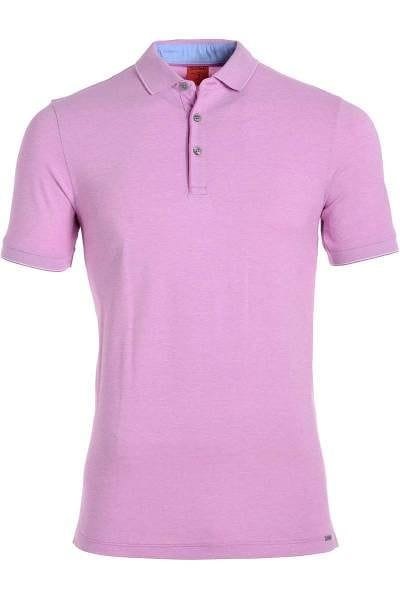 Olymp Level Five Body Fit Poloshirt rose/weiss, Zweifarbig