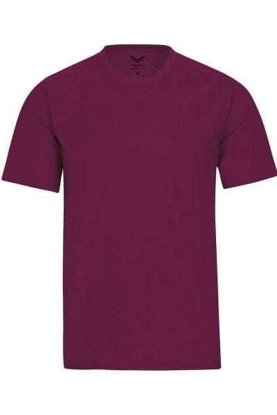 TRIGEMA T-Shirt Rundhals violett, einfarbig