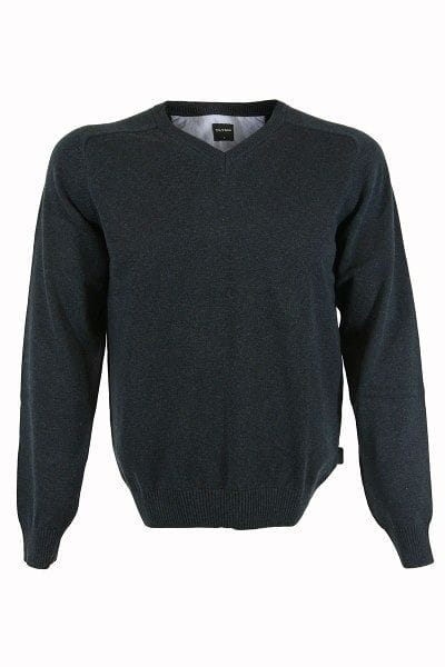 Olymp Strickpullover V-Ausschnitt Pullover - anthrazit