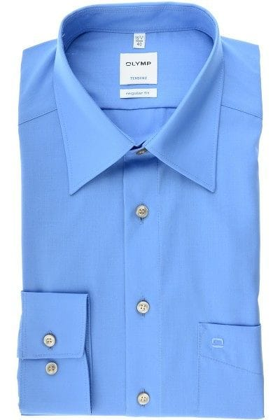 Olymp Hemd - Regular Fit - ausstatterblau, Einfarbig