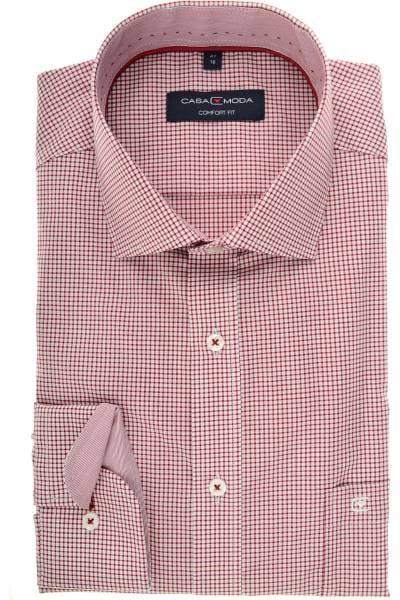 Casa Moda Comfort Fit Hemd rot/weiss, Vichykaro