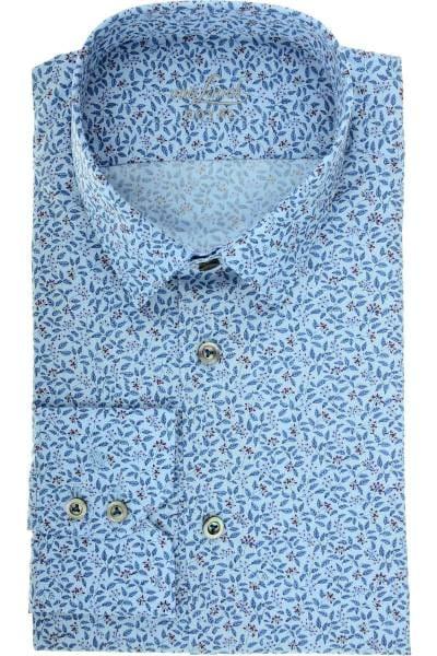 van Laack Tailor Fit Hemd blau, Gemustert