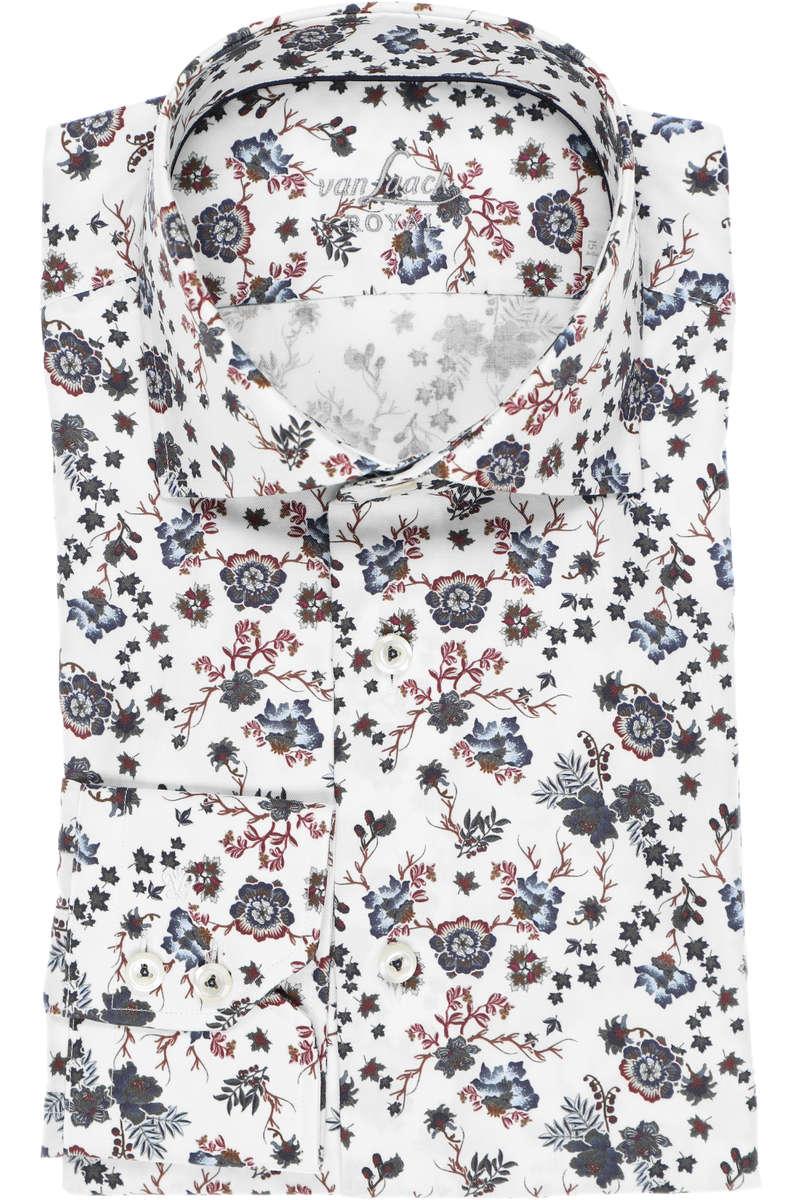 van Laack Tailor Fit Hemd weiss/blau, Blumen 43 - XL