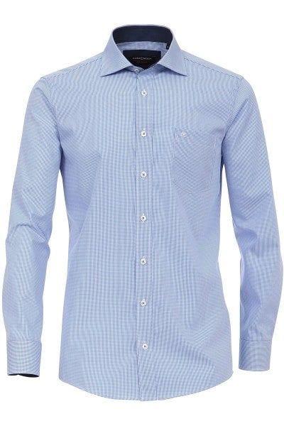 Casa Moda Hemd - Comfort Fit - blau/weiss, Kariert