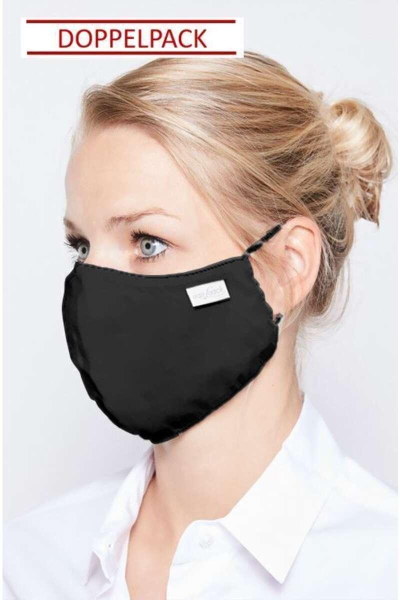 van Laack Mund-Nasen-Maske schwarz (Doppelpack)