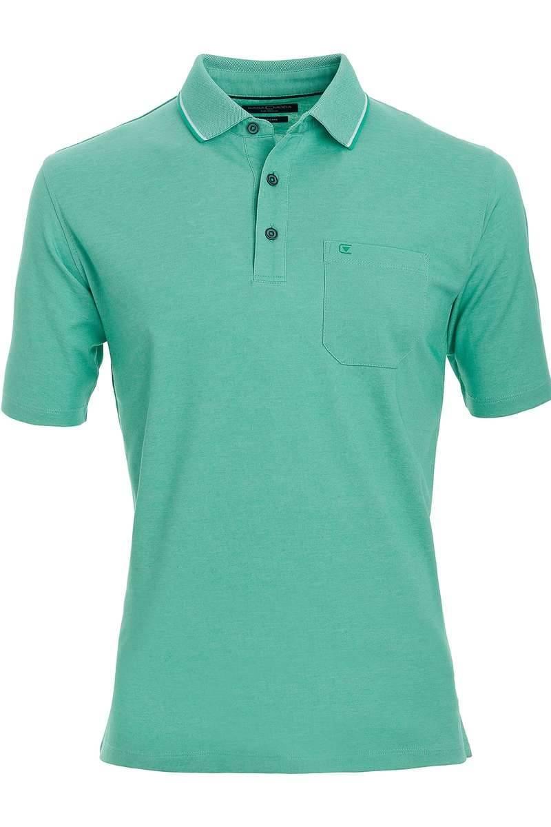 Casa Moda Poloshirt grün, melange