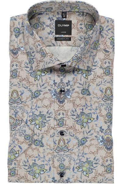 OLYMP Luxor Modern Fit Hemd braun, Paisley