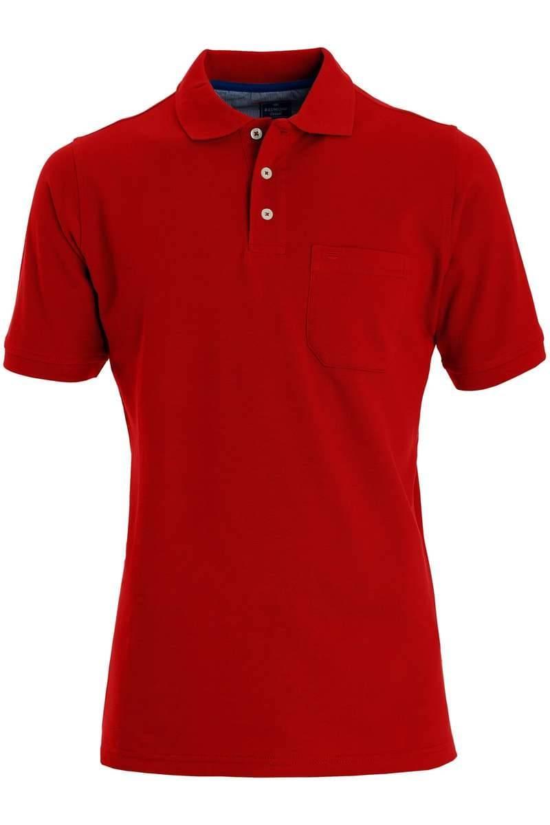 Redmond Casual Poloshirt rot, Einfarbig
