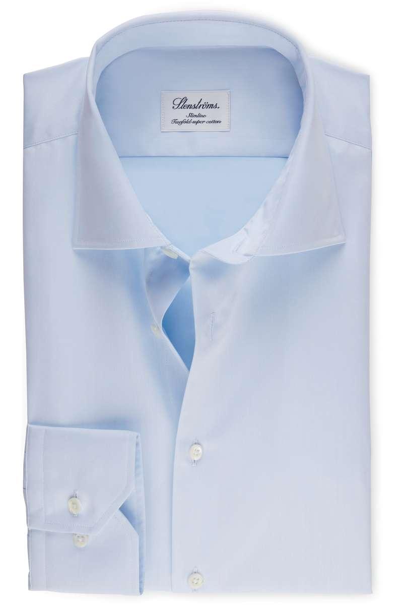 Stenströms Slimline Hemd blau, Einfarbig 38 - S