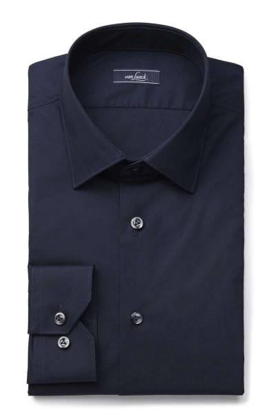 Van Laack Super Slim Hemd blau, Einfarbig