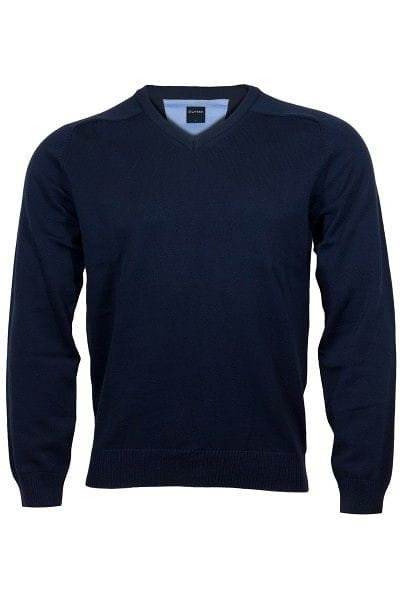 Olymp Strick - V-Ausschnitt Pullover - nachtblau