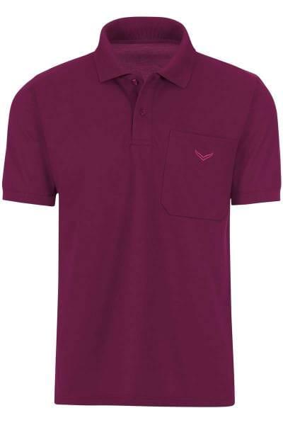 TRIGEMA Comfort Fit Poloshirt violett, Einfarbig
