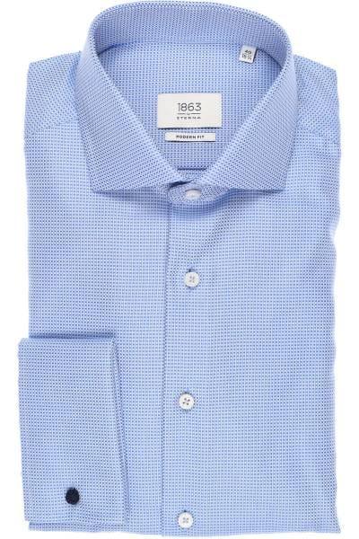 ETERNA 1863 Modern Fit Hemd hellblau, Strukturiert