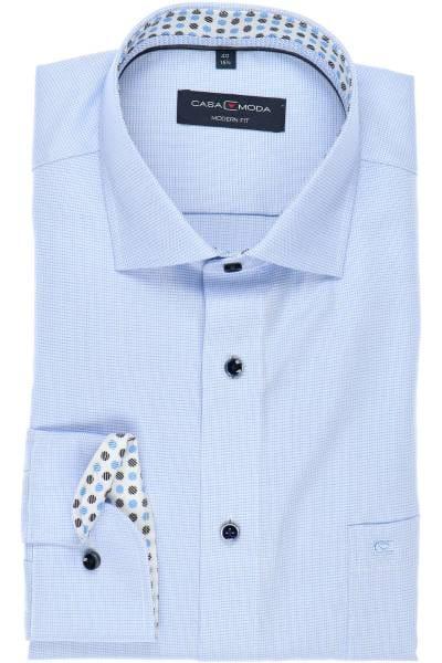 Casa Moda Modern Fit Hemd bleu, Faux-uni
