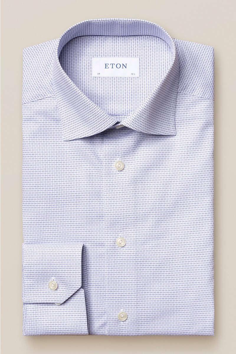 ETON Contemporary Fit Hemd marine/weiss, Kariert 39 - M