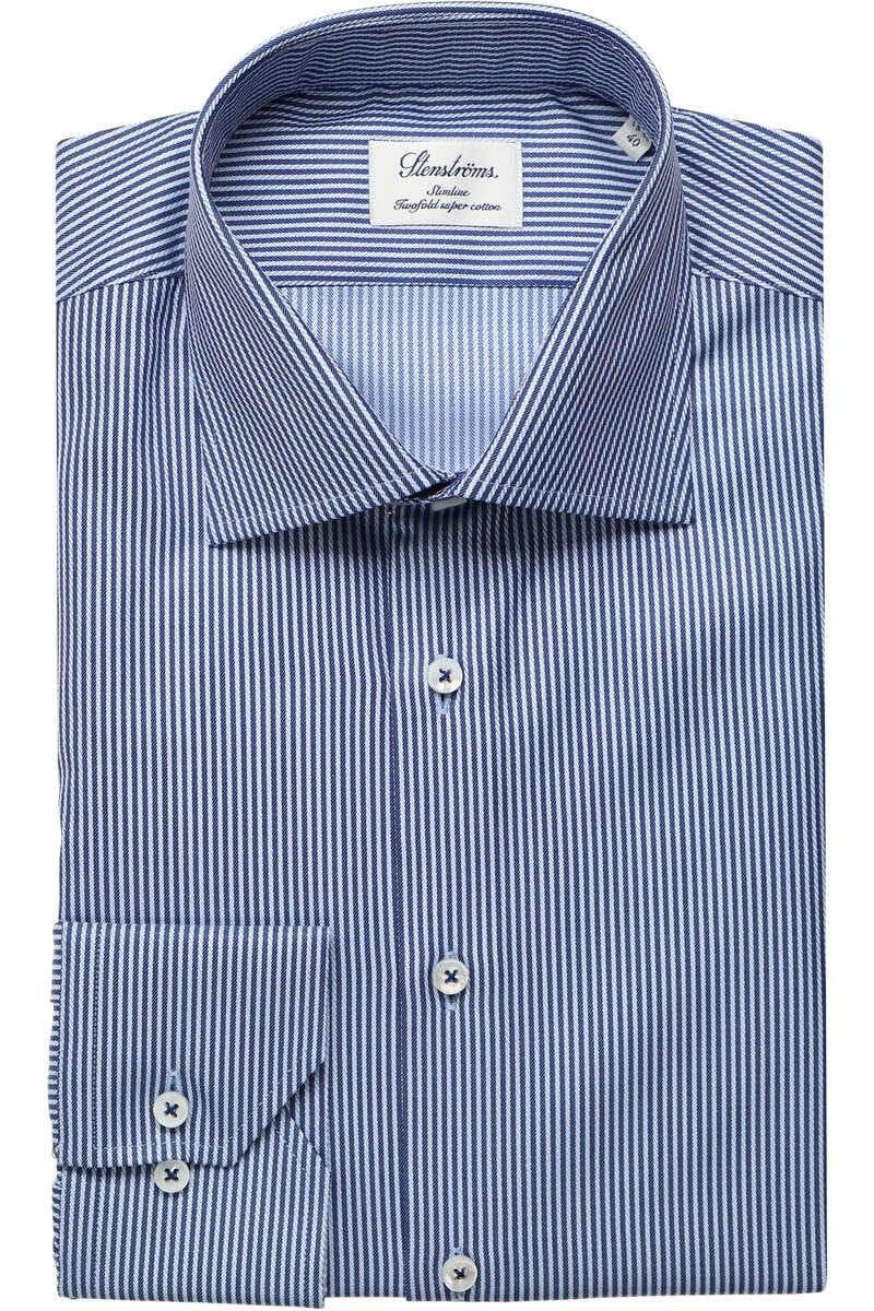 Stenströms Slimline Hemd blau, Gestreift 40 - M