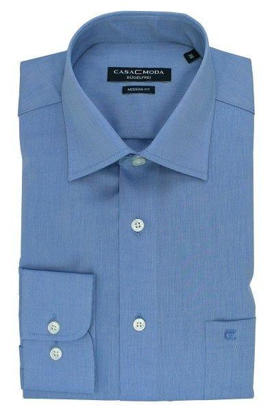 Casa Moda Hemd - Modern Fit - blaugrau, Einfarbig
