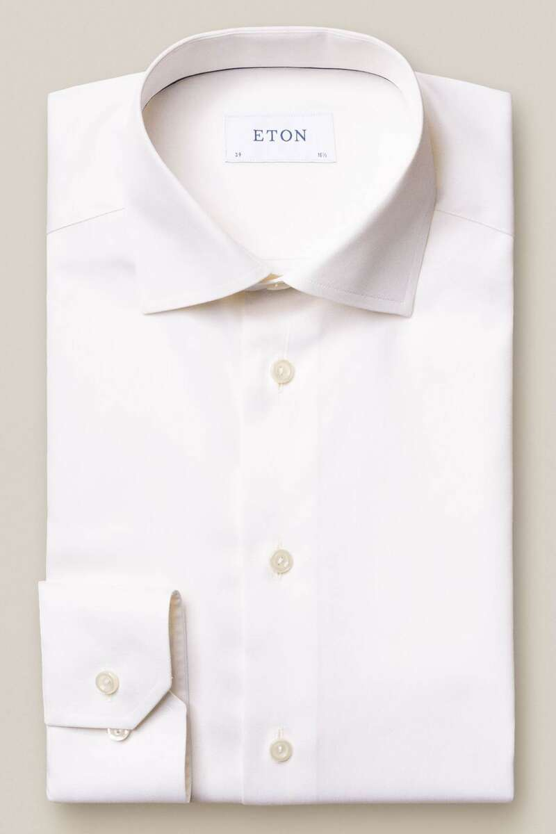ETON Slim Fit Hemd beige, Einfarbig 40 - M