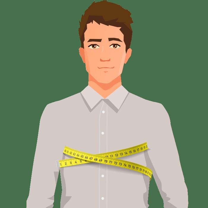 ETERNA Maßhemd Oberweite messen