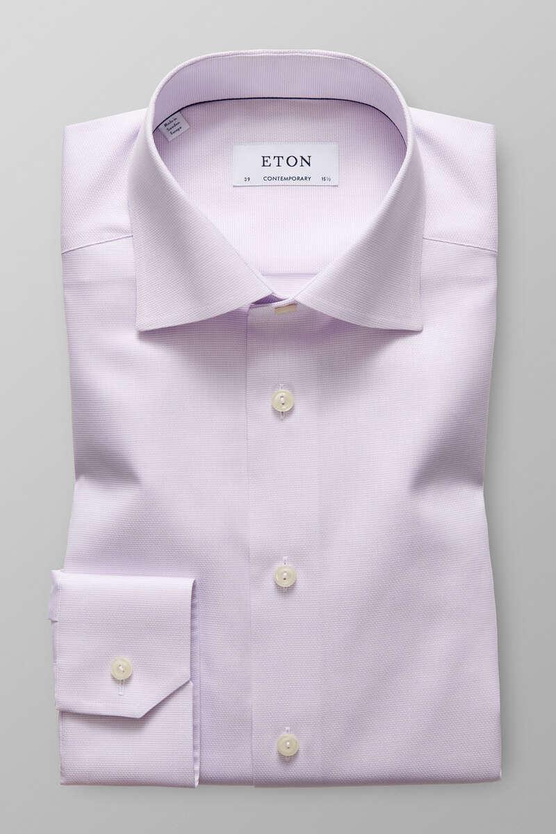 ETON Contemporary Fit Hemd lila, Einfarbig 39 - M