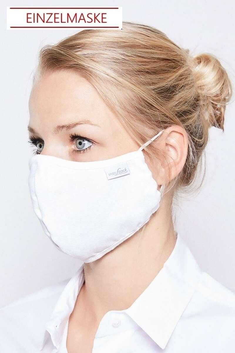 van Laack Mund-Nasen-Maske weiss (Einzelmaske)