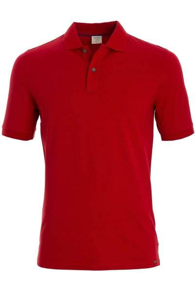 OLYMP Level Five Body Fit Poloshirt rot, Einfarbig