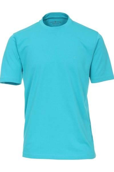 Casa Moda T-Shirt Rundhals türkis, einfarbig