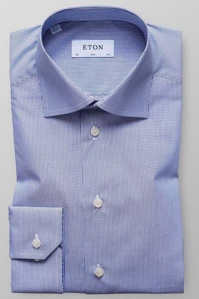 Eton Hemd - Slim Fit - blau/weiss, Zündholzstreifen