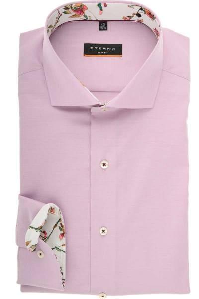 ETERNA Slim Fit Hemd rosa, Einfarbig