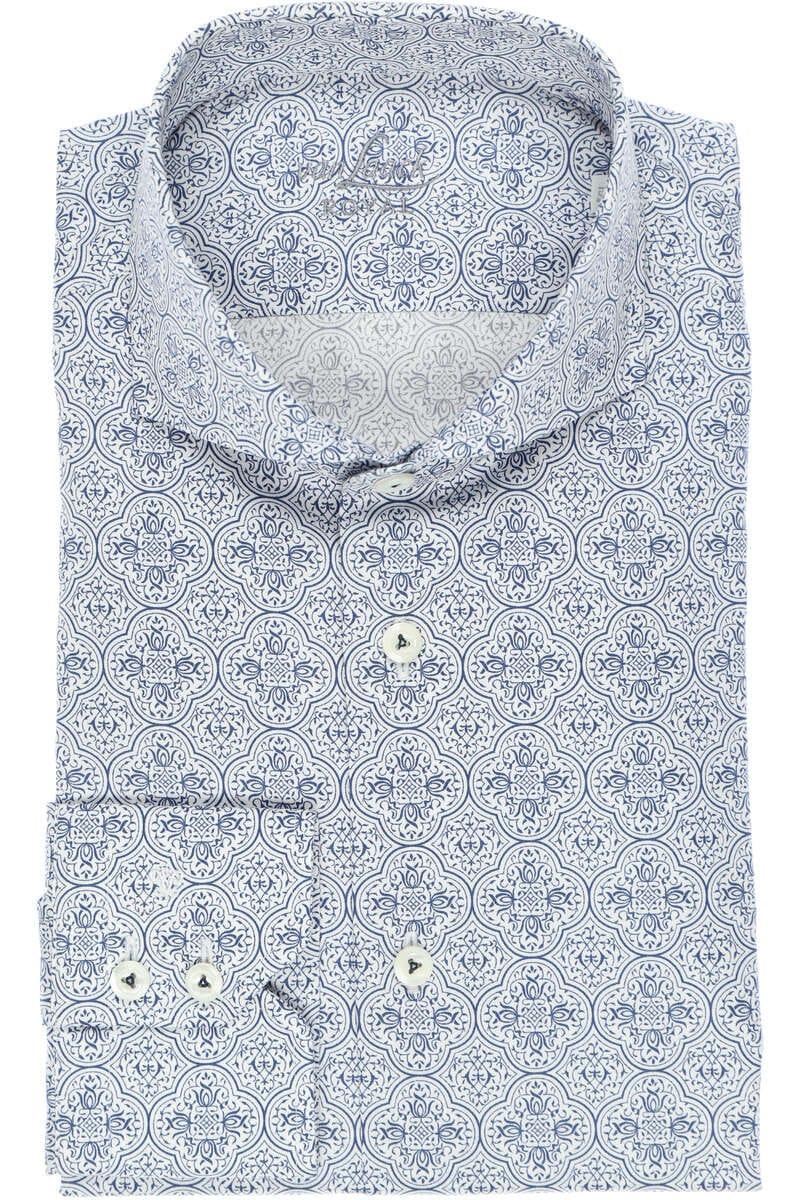 van Laack Tailor Fit Hemd dunkelblau/weiss, Gemustert 39 - M