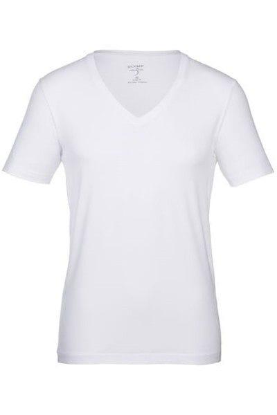 Olymp T-Shirt - - weiss, Einfarbig