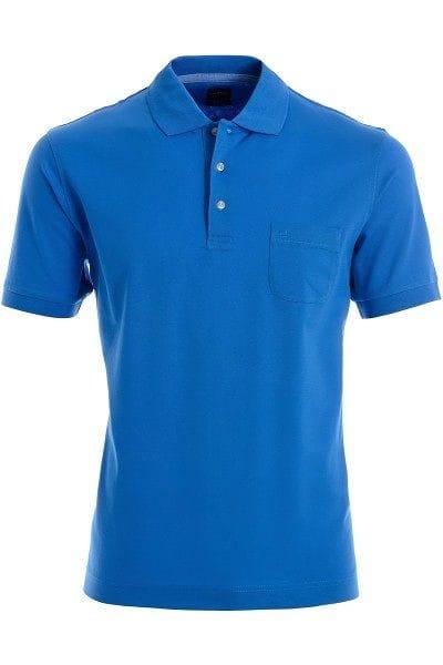 Olymp Modern Fit Poloshirt blau, Einfarbig