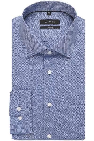 Seidensticker Comfort Fit Hemd blau, Strukturiert