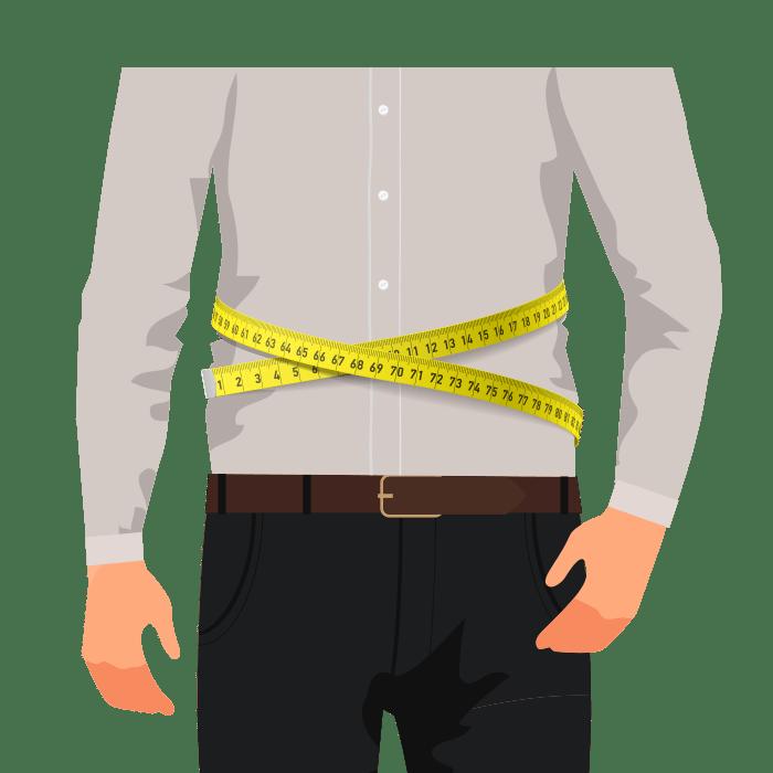 Hemden Taillenweite messen