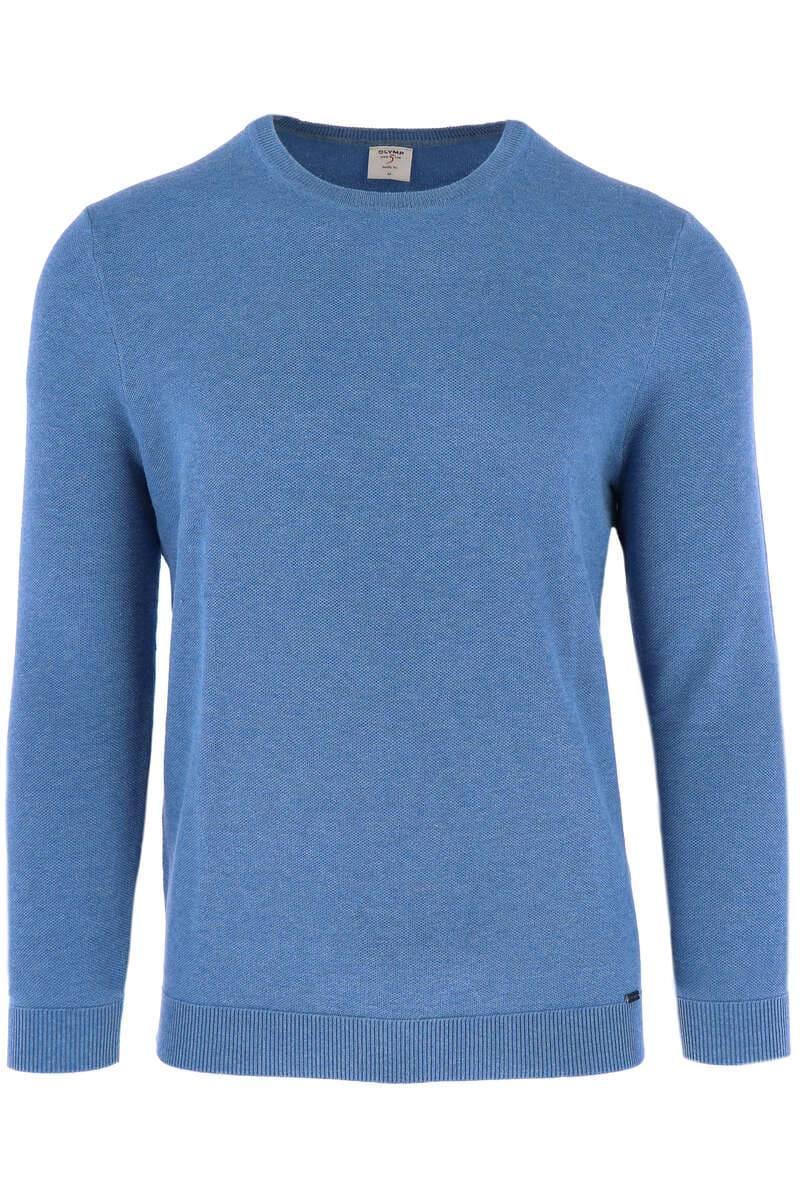 OLYMP Level Five Body Fit Strickpullover Rundhals bleu, einfarbig