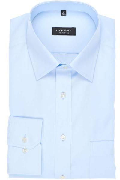 Eterna Hemd - Comfort Fit - bleu, Einfarbig