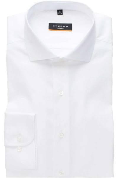 ETERNA Slim Fit Hemd weiss, Strukturiert