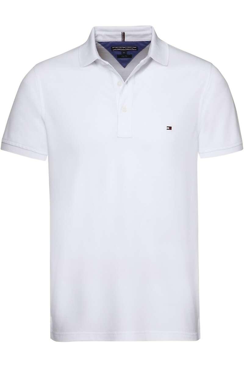 Tommy Hilfiger Slim Fit Poloshirt weiss, Einfarbig M