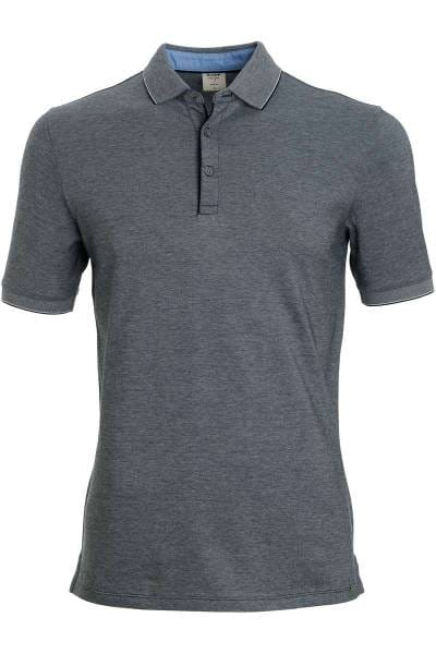 OLYMP Level Five Body Fit Poloshirt anthrazit, Einfarbig