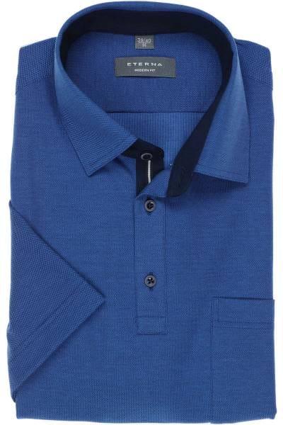 ETERNA Modern Fit Poloshirt blau, Einfarbig