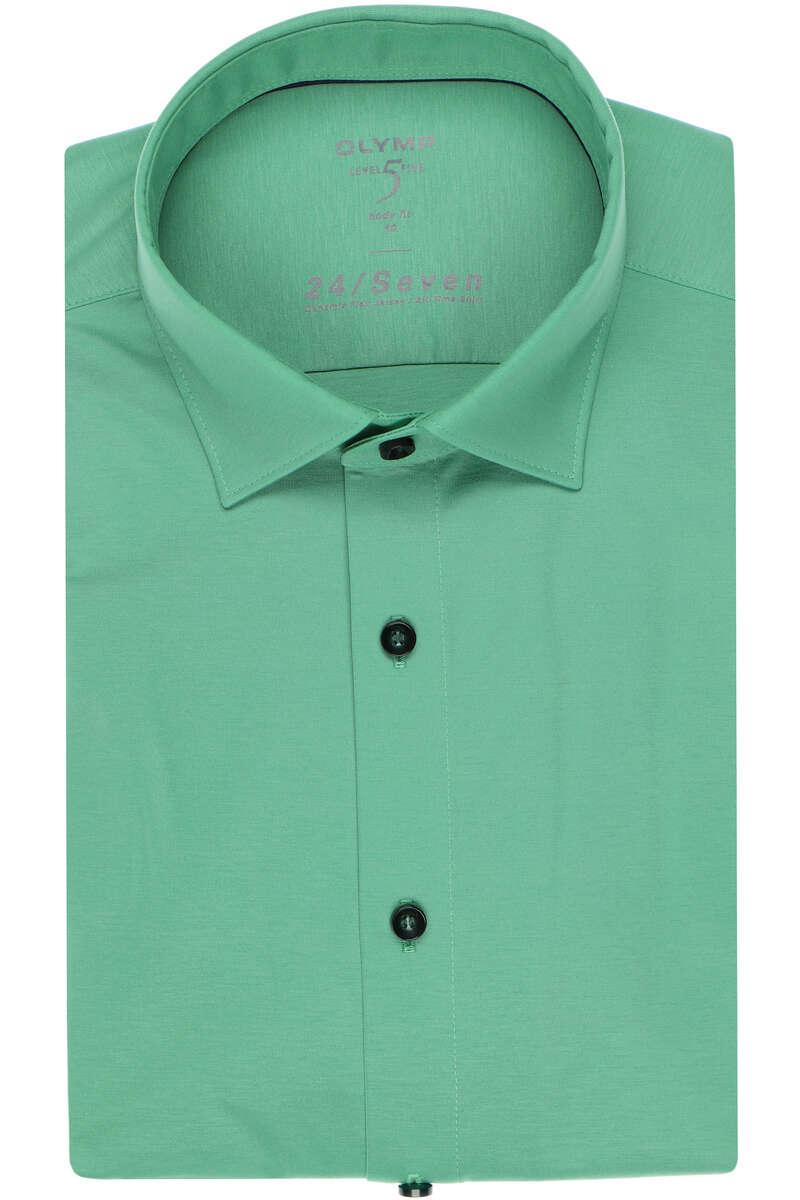 OLYMP Level Five Body Fit Jerseyhemd mittelgrün, Einfarbig 40 - M