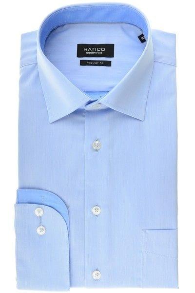 Hatico Hemd - Regular Fit - dunkelblau, Einfarbig