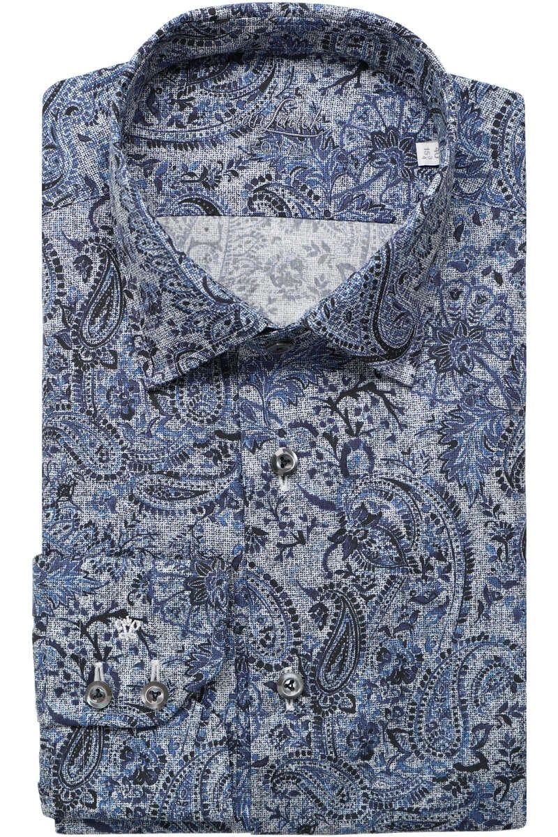 Van Laack Tailor Fit Hemd dunkelblau, Gemustert 39 - M
