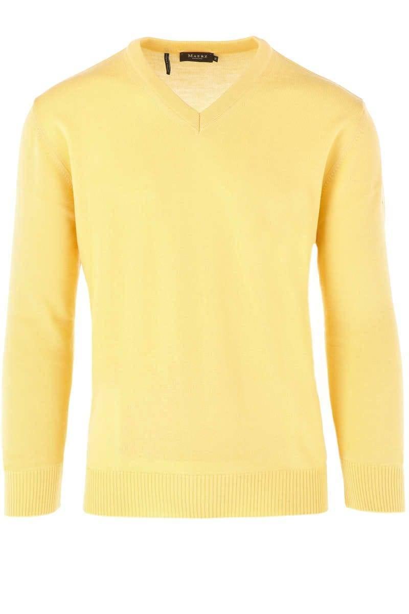 MAERZ Strick - V-Ausschnitt Pullover - gelb