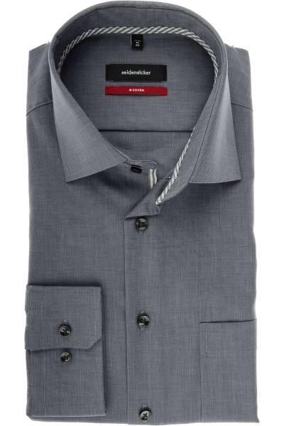 Seidensticker Modern Fit Hemd grau, Strukturiert