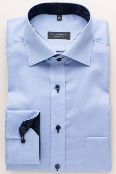 Eterna Hemd - Comfort Fit - blau, Einfarbig