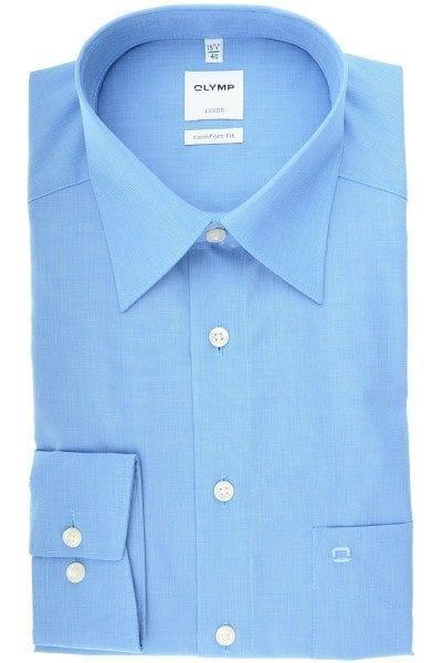 Olymp Luxor - Hemd in Langarm (64cm), blau, Einfarbig   Hemden.de 3d021d0310