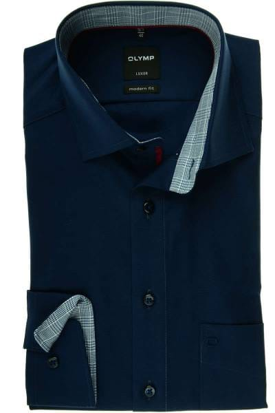 fashion in stock good quality OLYMP Luxor Modern Fit shirt marine, One Colour
